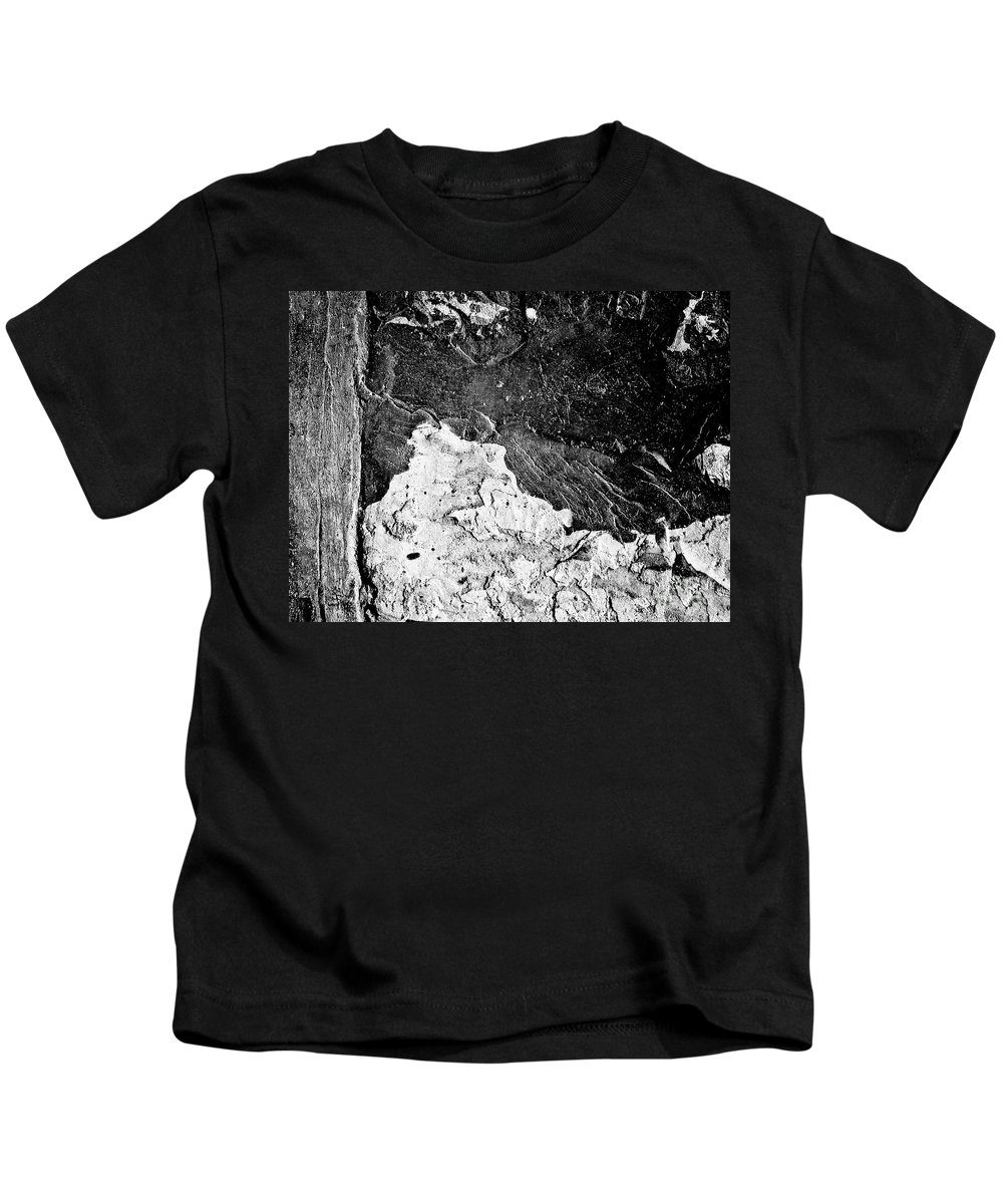Abstract Kids T-Shirt featuring the photograph Texture No.2 B W by Fei A