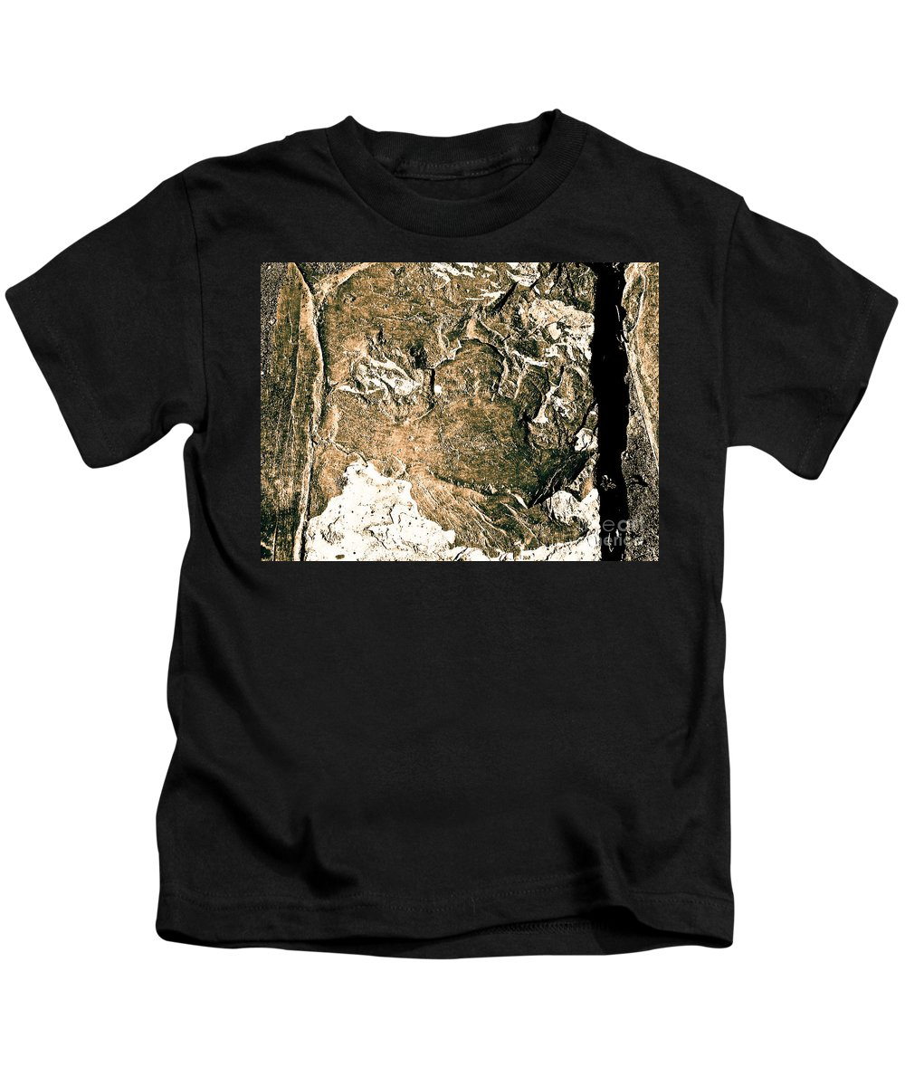 Abstract Kids T-Shirt featuring the photograph Texture No.2 Effect 5 by Fei A