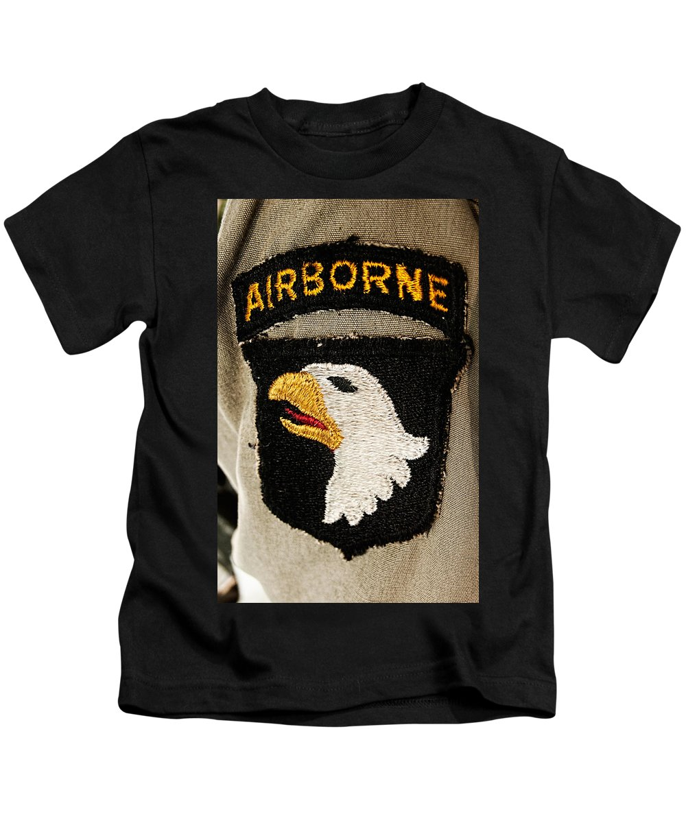 101st Kids T-Shirt featuring the photograph The 101st Airborne Division Emblem by Weston Westmoreland