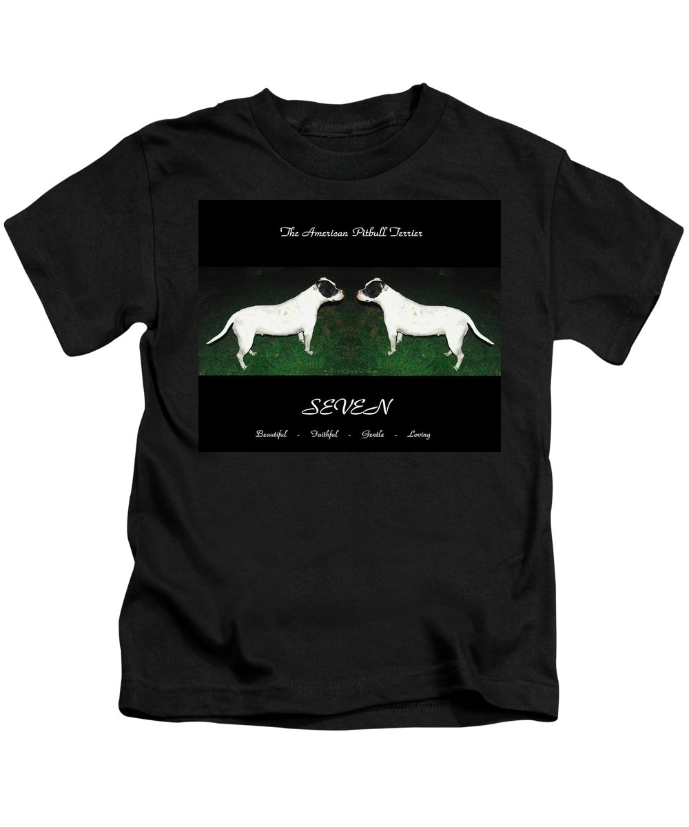 Pitbull Kids T-Shirt featuring the photograph The American Pitbull Terrier by Joyce Dickens