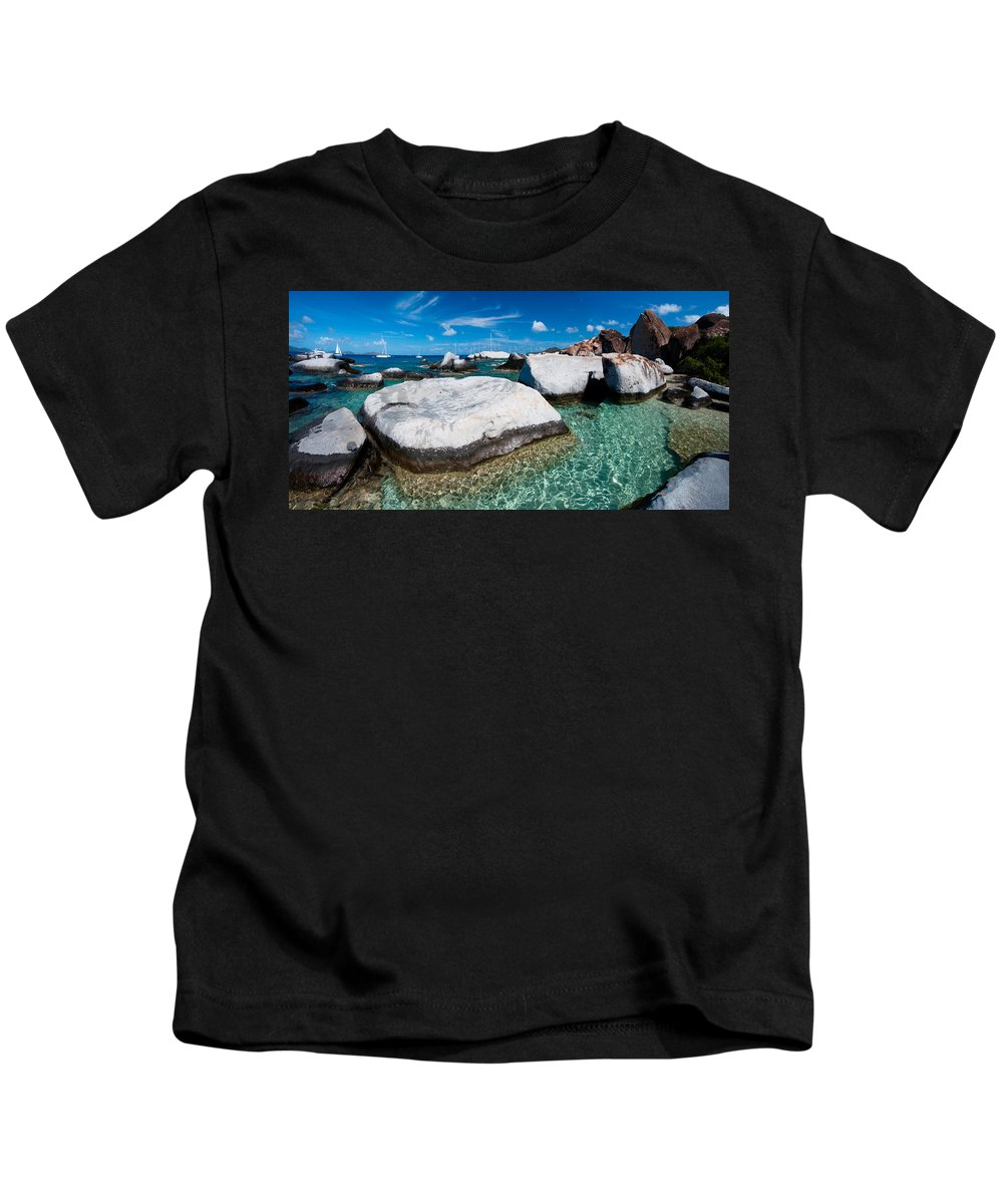3scape Kids T-Shirt featuring the photograph The Baths by Adam Romanowicz