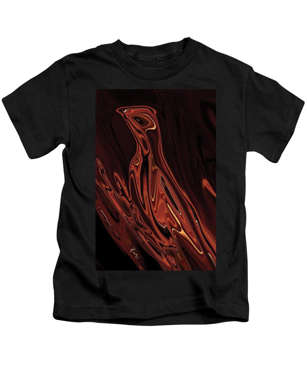 Animal Kids T-Shirt featuring the digital art The Bird Unknown 4 by Rabi Khan