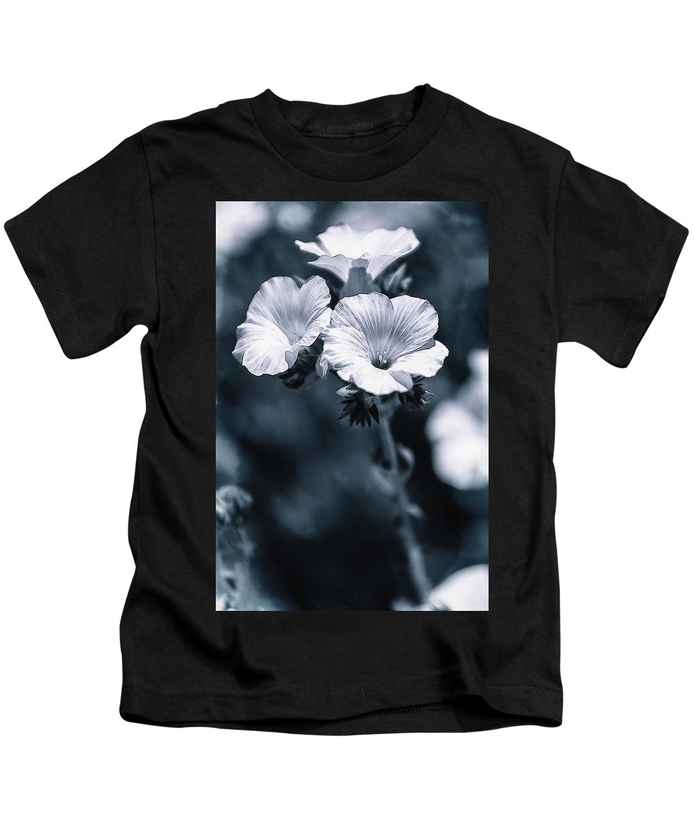 Photography Kids T-Shirt featuring the photograph The Blues by Pati Photography