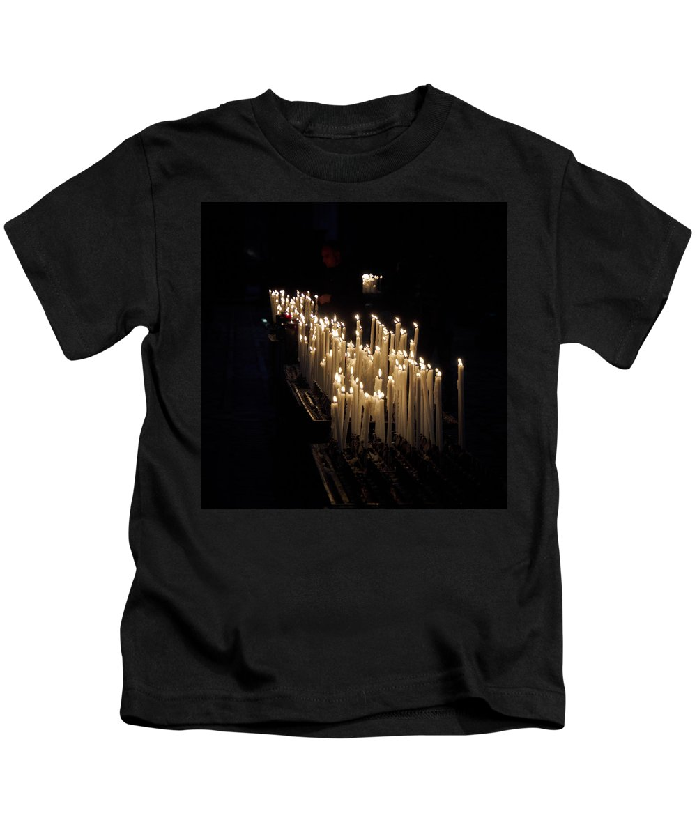 Francacorta Kids T-Shirt featuring the photograph The Candles. Duomo. Milan by Jouko Lehto