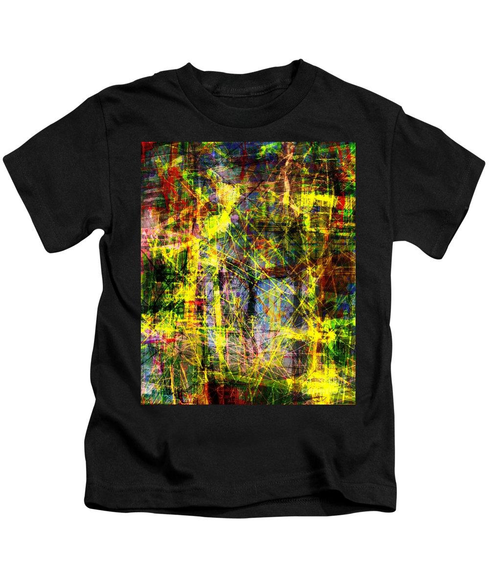 Brandon Lynch Kids T-Shirt featuring the digital art The City 9b by Brandon Lynch