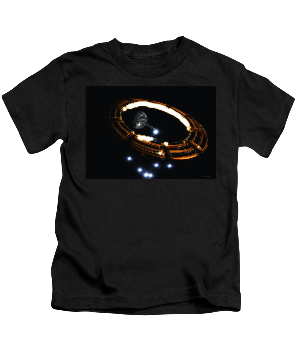 Planet Kids T-Shirt featuring the digital art The Connection by Ramon Martinez
