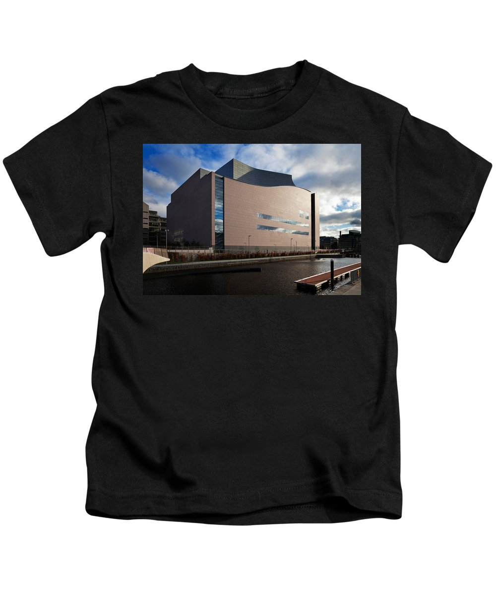 Photography Kids T-Shirt featuring the photograph The Convention Centre Dublin , Dublin by Panoramic Images