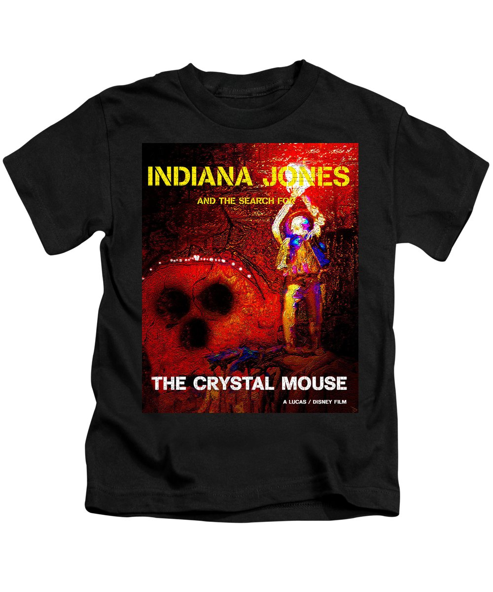 Indiana Jones Kids T-Shirt featuring the painting The Crystal Mouse by David Lee Thompson