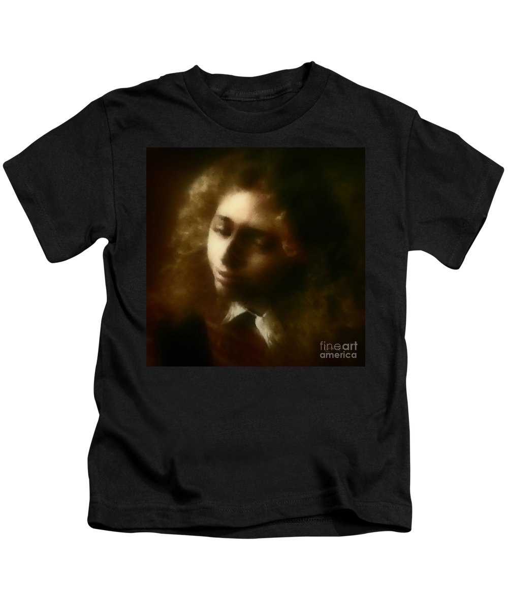 Girl Kids T-Shirt featuring the painting The Daydream by RC DeWinter
