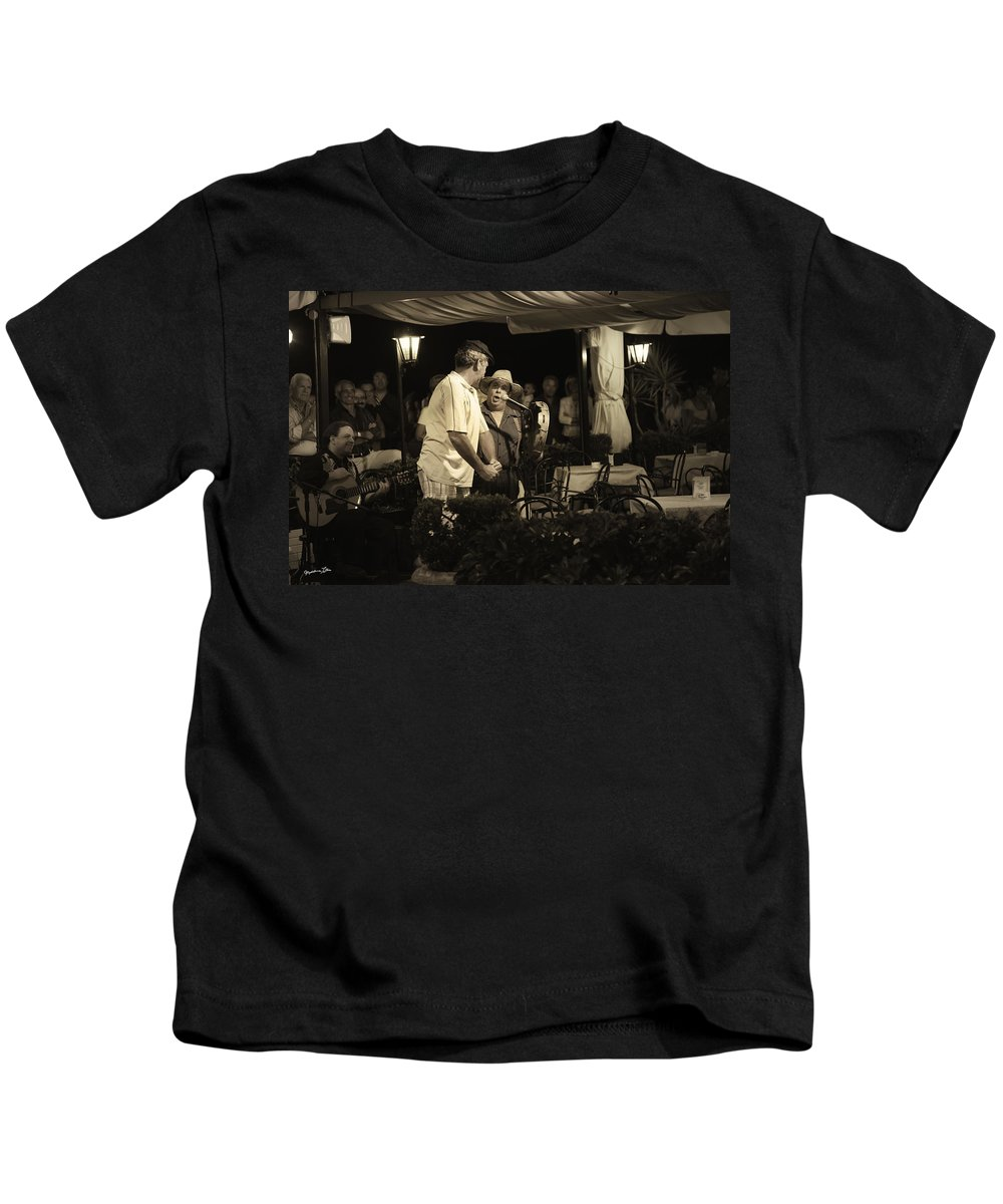 Music Kids T-Shirt featuring the photograph The Entertainers by Madeline Ellis
