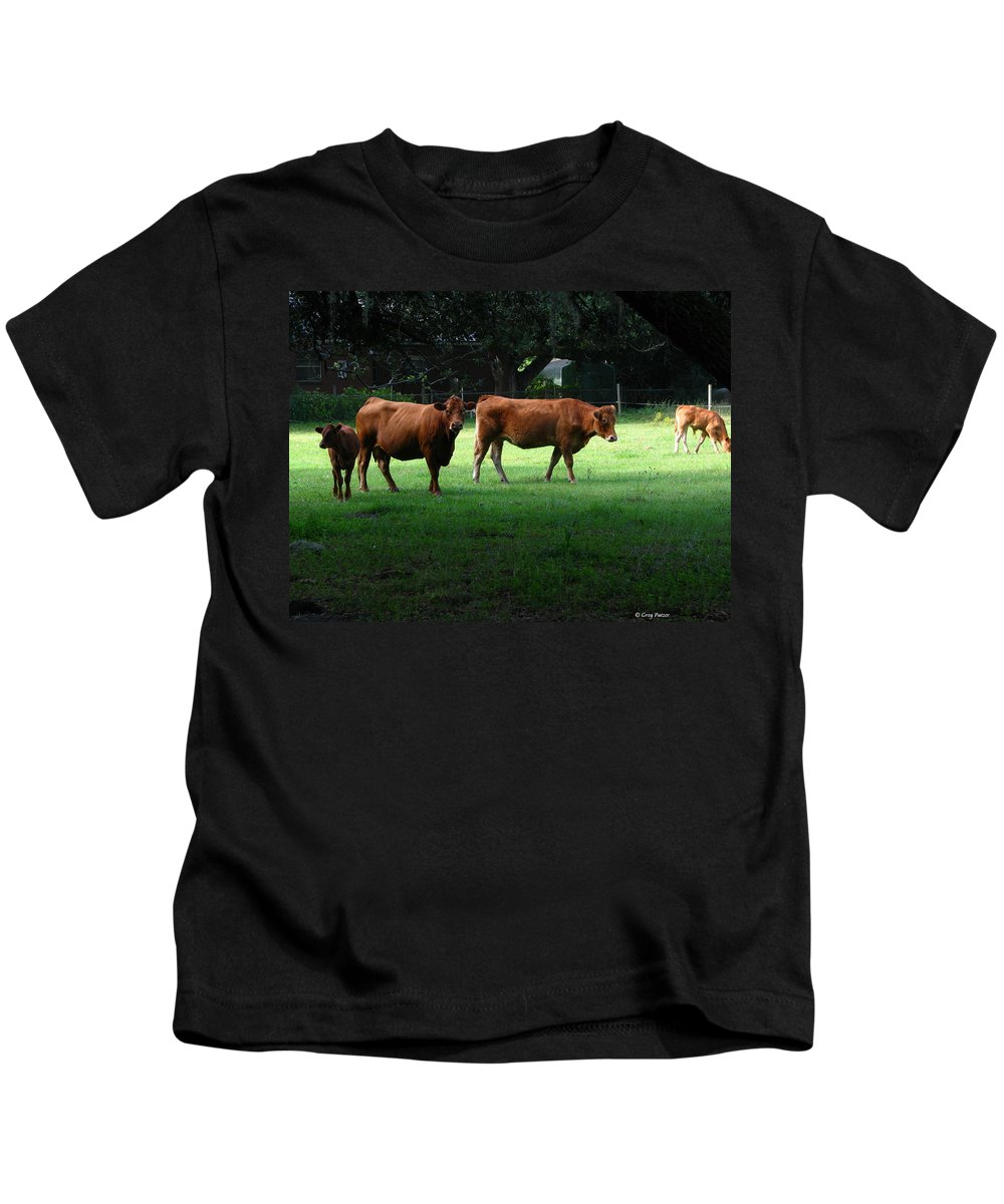 Patzer Kids T-Shirt featuring the photograph The Farm by Greg Patzer