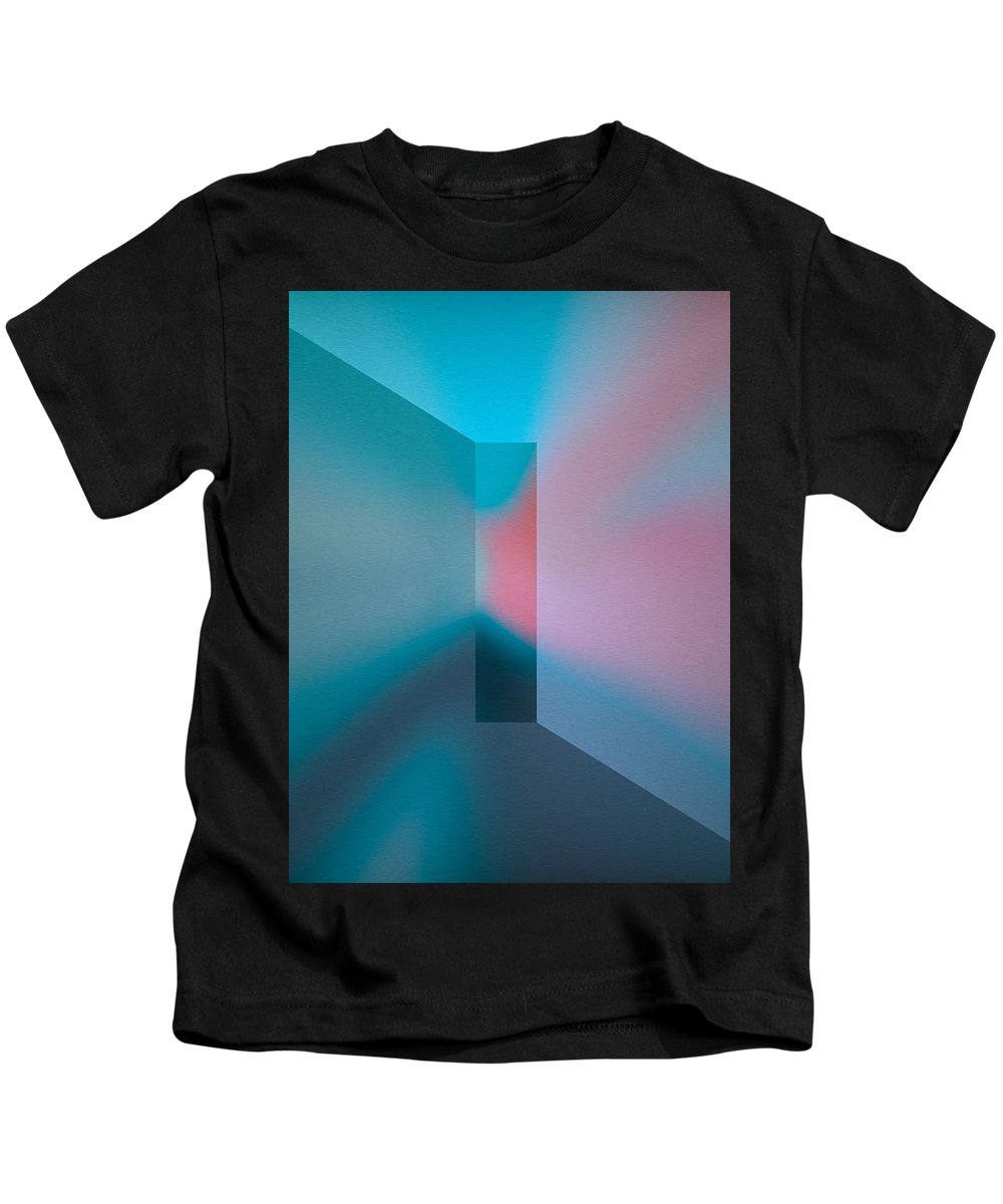 The Focus Turquoise Kids T-Shirt featuring the digital art The Focus - Turquoise by Mihaela Stancu