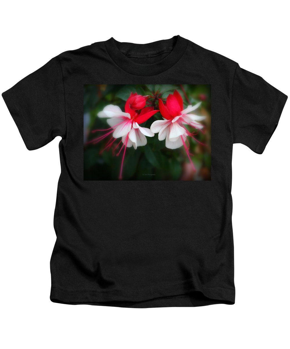 Fuchsia Kids T-Shirt featuring the photograph The Fuchsia by Jeanette C Landstrom