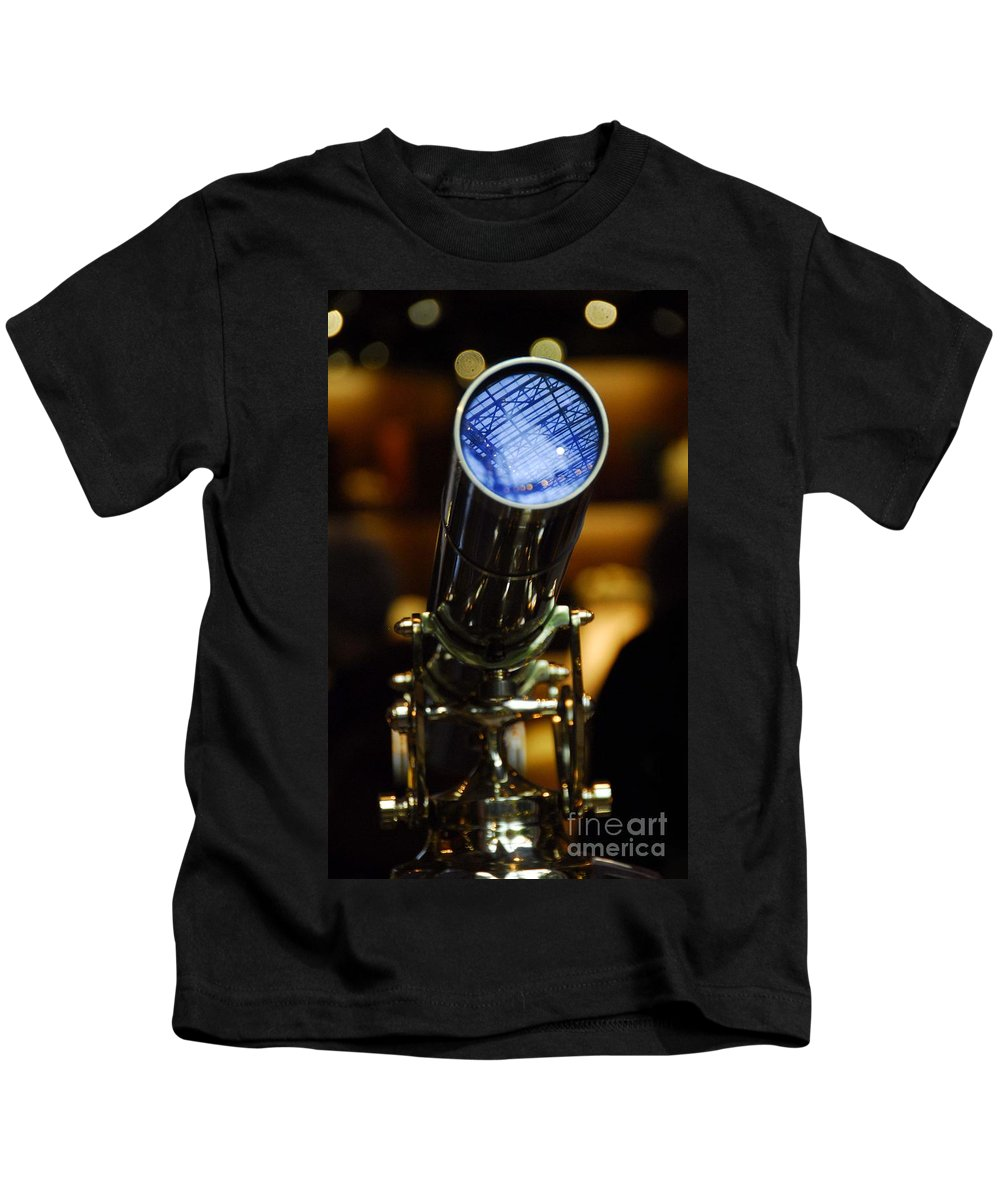 Telescope Kids T-Shirt featuring the photograph The Garden Telescope by Cindy Manero