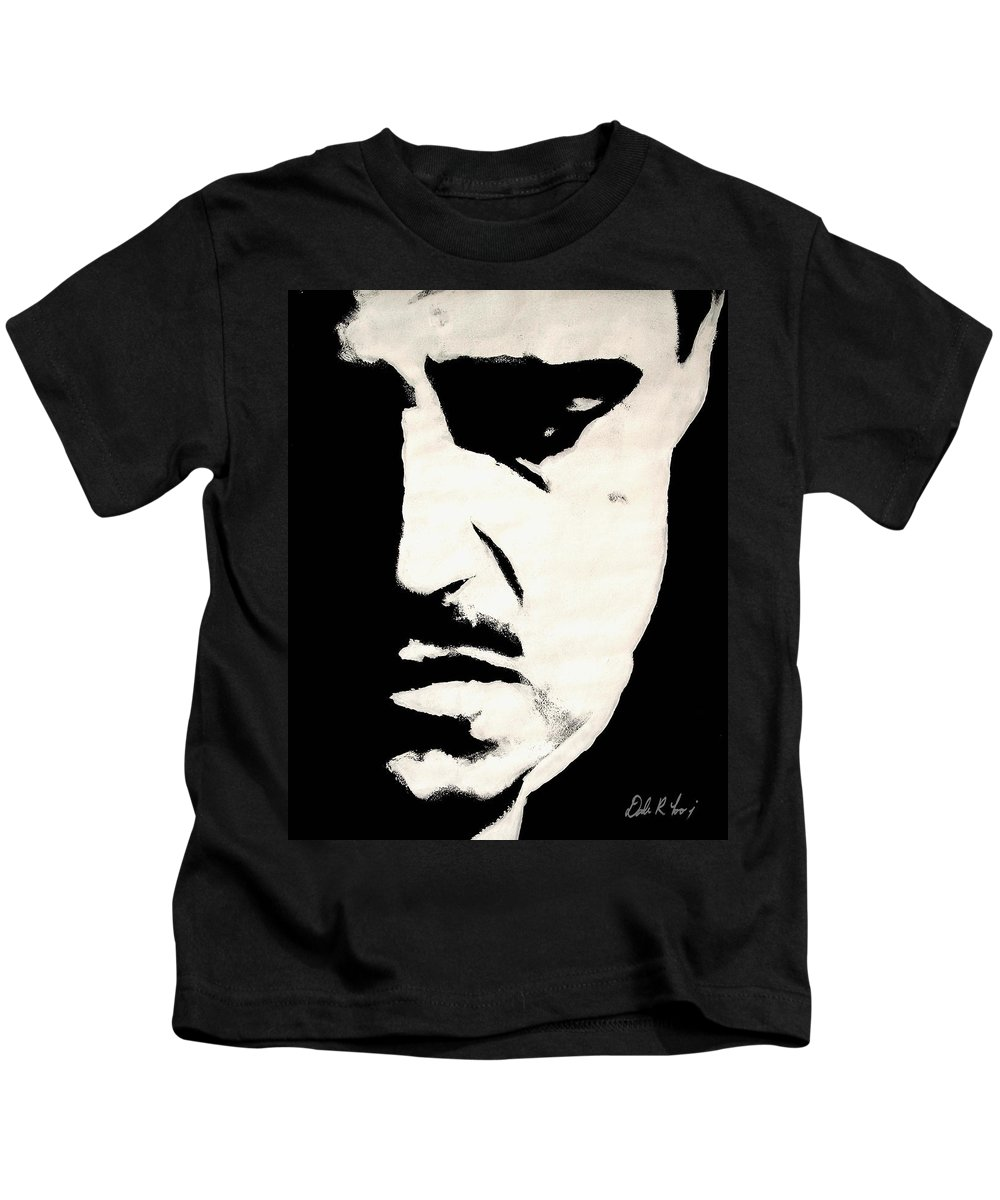 Godfather Kids T-Shirt featuring the painting The Godfather by Dale Loos Jr