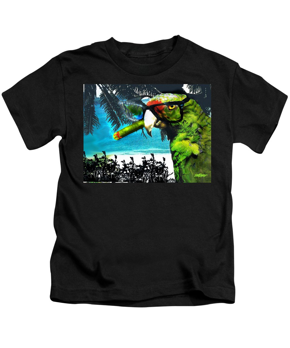 The Great Bird Of Casablanca Kids T-Shirt featuring the digital art The Great Bird Of Casablanca by Seth Weaver
