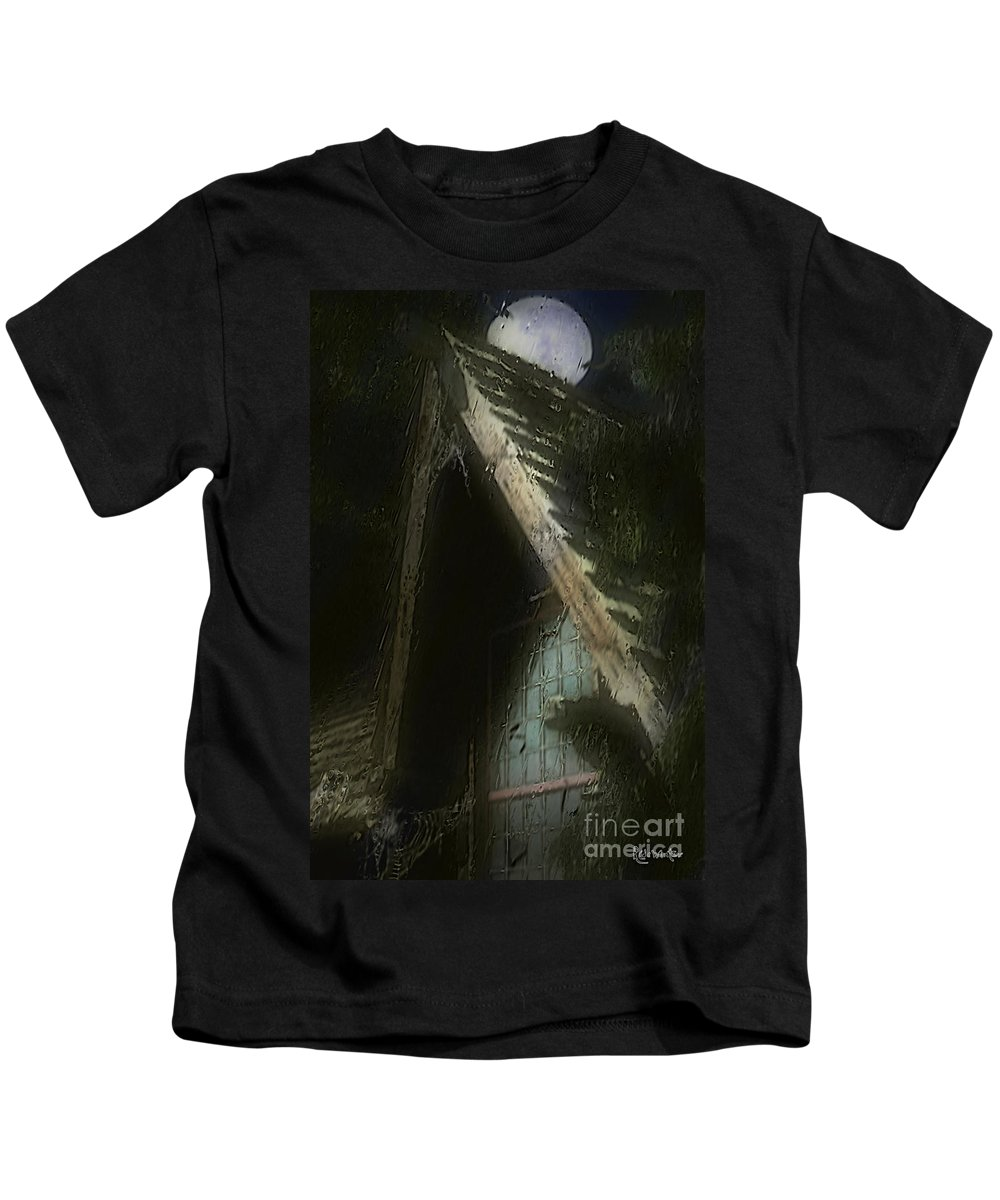 House Kids T-Shirt featuring the painting The Haunted Gable by RC DeWinter