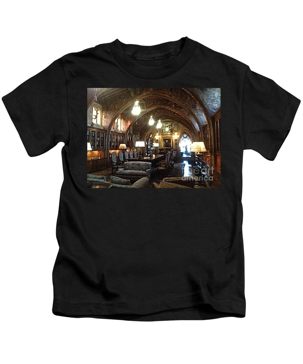 Hearst Castle Kids T-Shirt featuring the photograph The Hearst Castle by Christy Gendalia