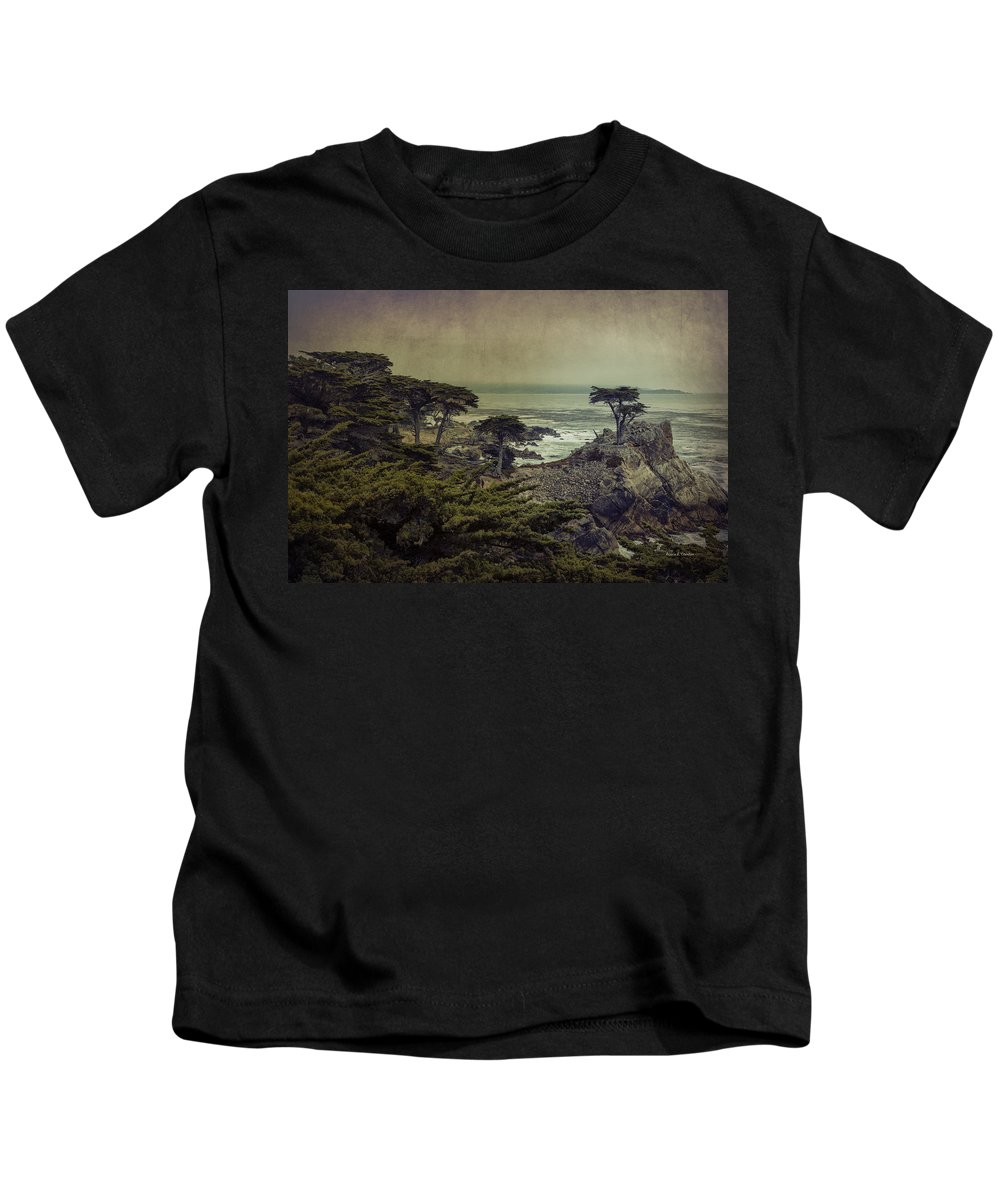 Lone Cypress Kids T-Shirt featuring the photograph The Lone Cypress by Angela Stanton