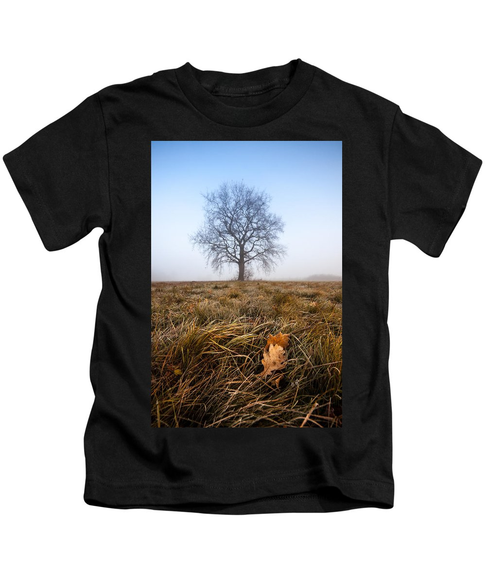 Landscapes Kids T-Shirt featuring the photograph The Lone Oak by Davorin Mance