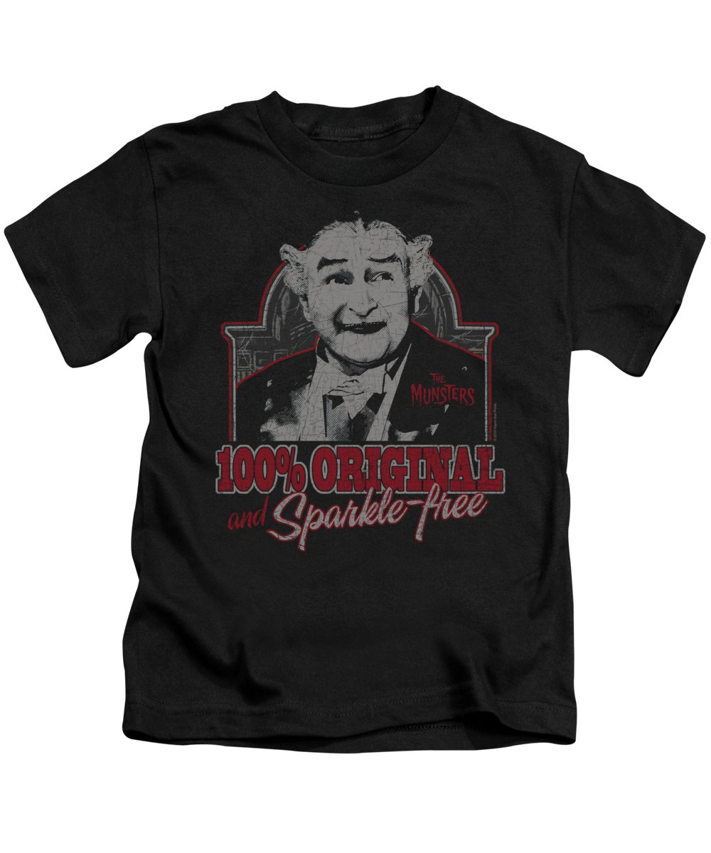 The Munsters Kids T-Shirt featuring the digital art The Munsters - 100% Original by Brand A