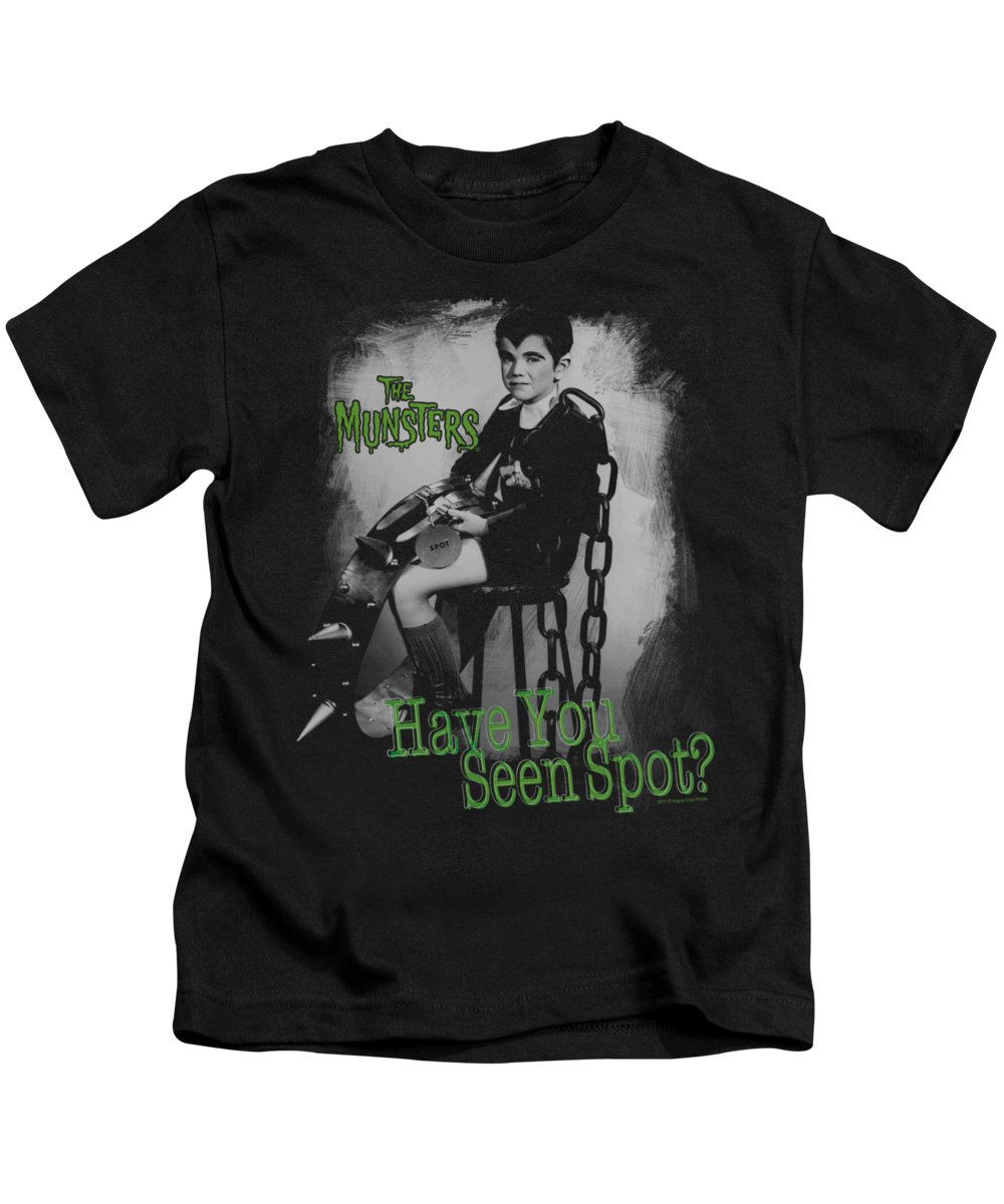 The Munsters Kids T-Shirt featuring the digital art The Munsters - Have You Seen Spot by Brand A