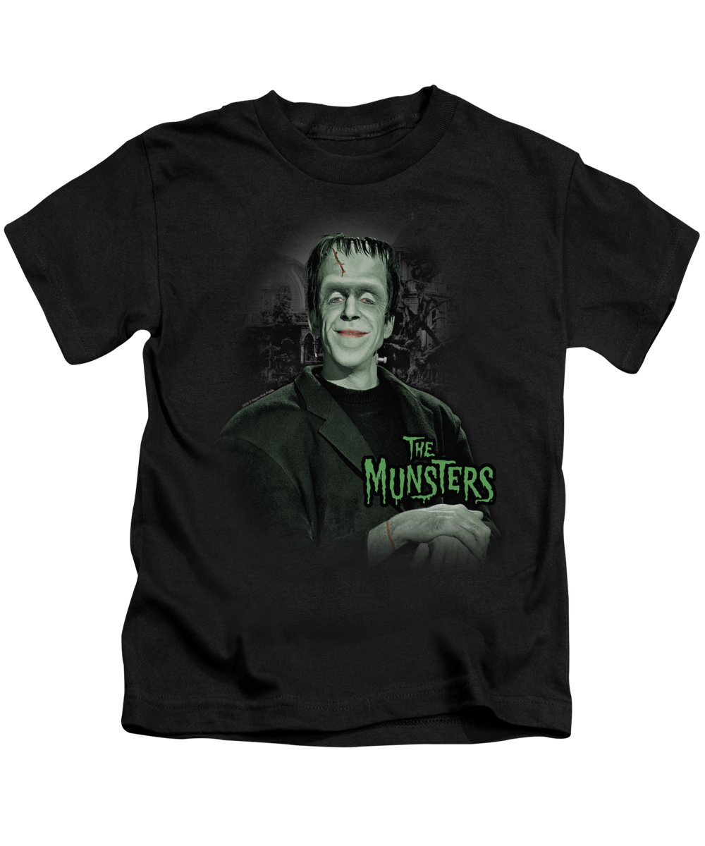 The Munsters Kids T-Shirt featuring the digital art The Munsters - Man Of The House by Brand A