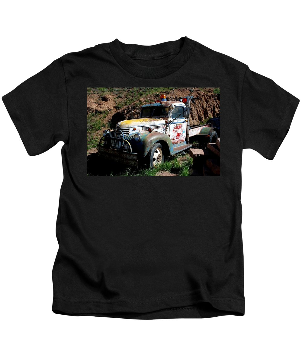 Truck Kids T-Shirt featuring the photograph The Old Truck by Dany Lison