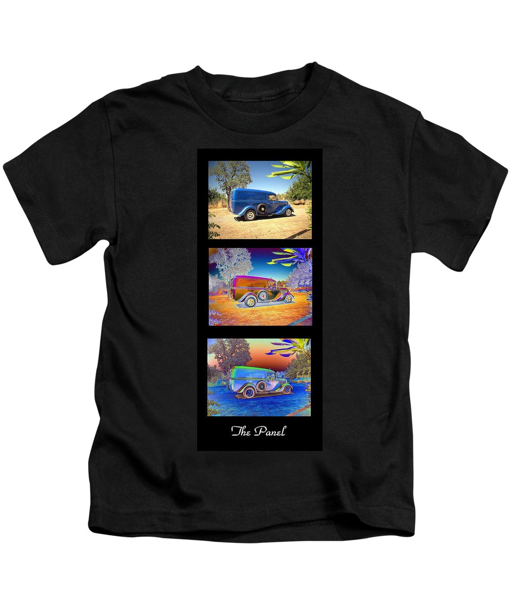 Panel Kids T-Shirt featuring the photograph The Panel - Collage by Joyce Dickens