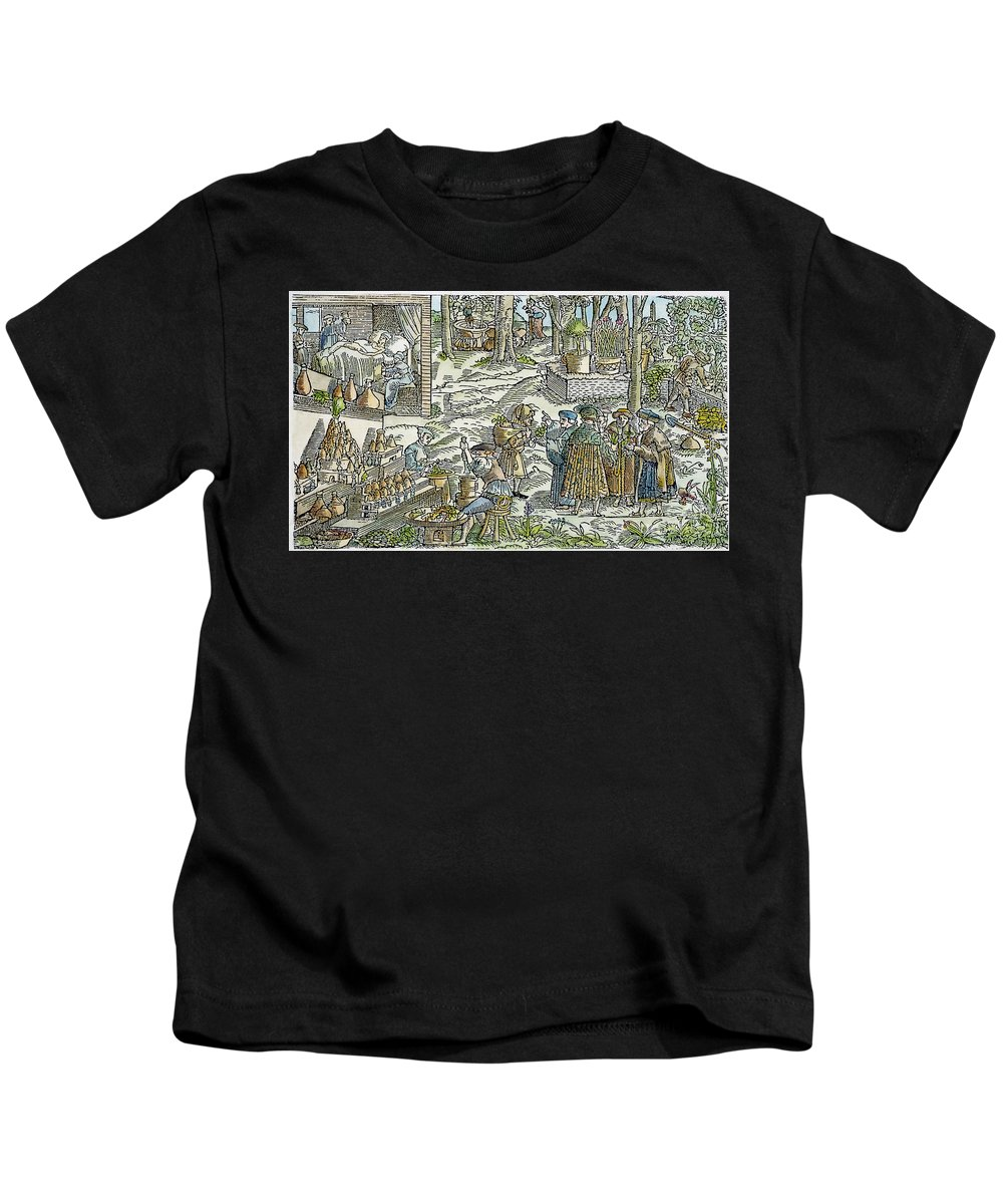 1531 Kids T-Shirt featuring the photograph The Physic Garden, 1531 by Granger