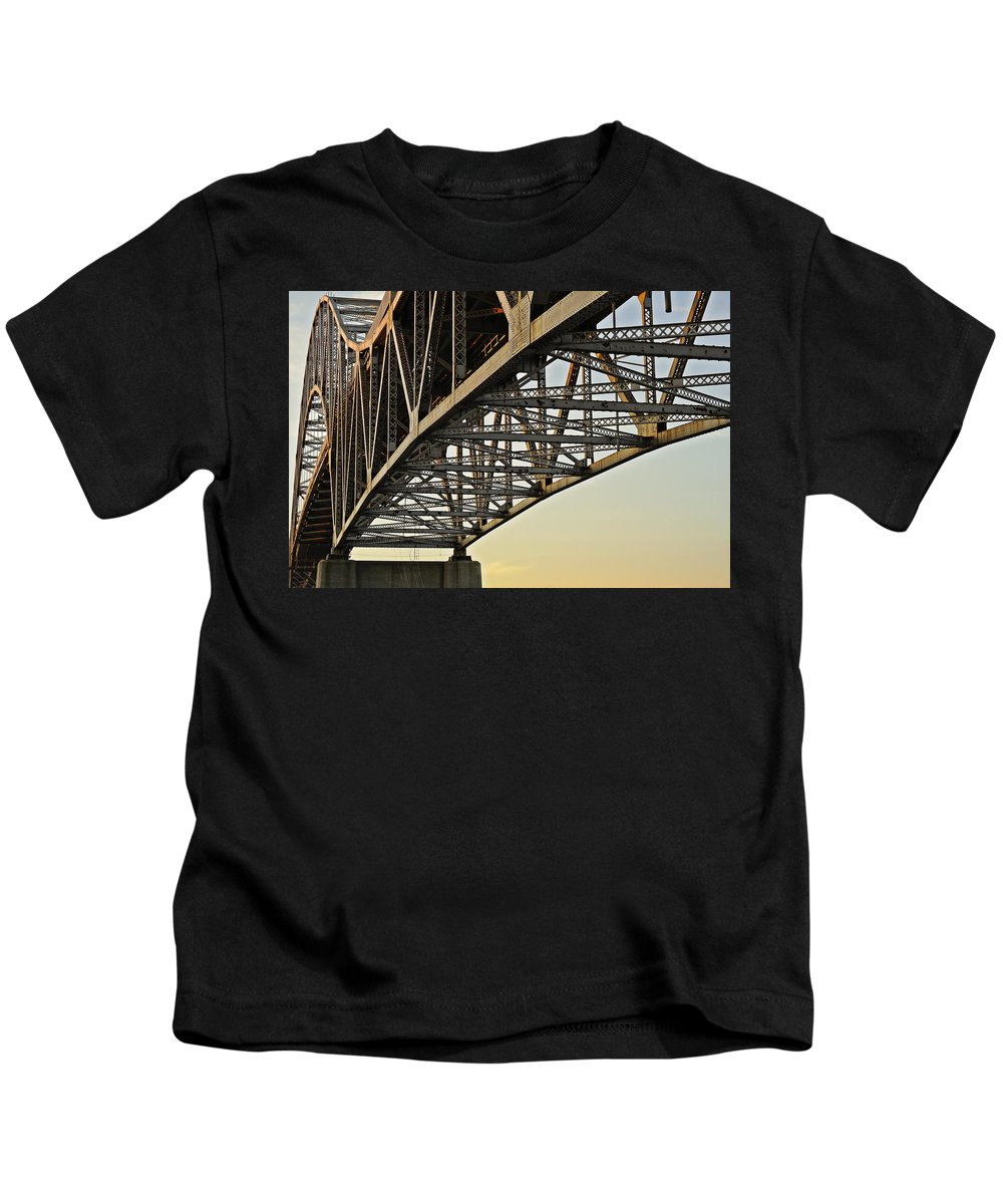 Sagamore Kids T-Shirt featuring the photograph The Sagamore Bridge by Luke Moore