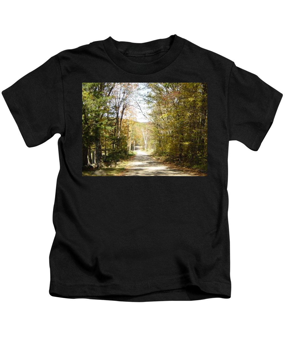 Kids T-Shirt featuring the photograph The Serene Path by Brian S Boucher