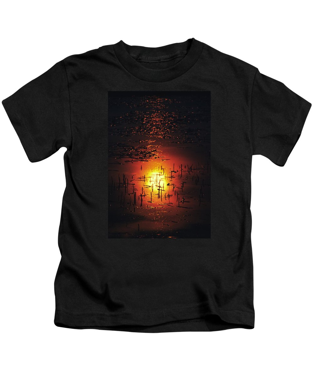 Sunset Kids T-Shirt featuring the photograph The Sinking Sun by Gordon James