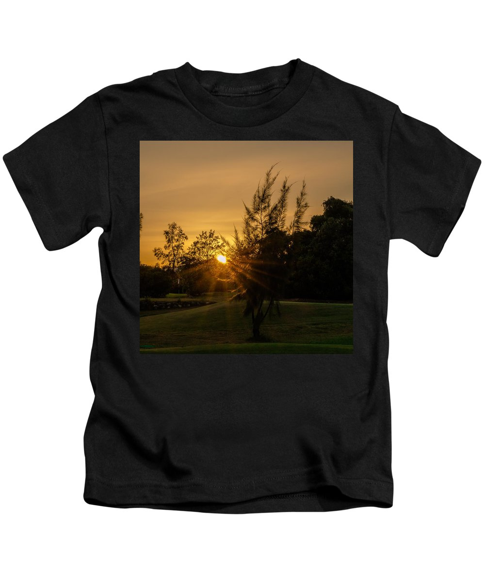 Sunset Kids T-Shirt featuring the photograph The Sunset In The Mountain IIi by Alexandre Martins