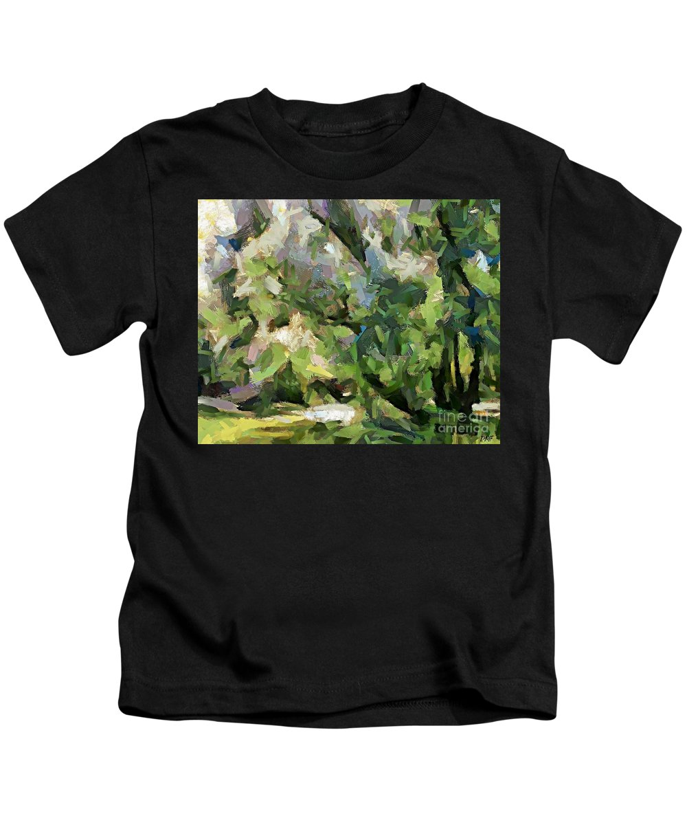 Season Kids T-Shirt featuring the painting The Swamp - Wetlands by Dragica Micki Fortuna