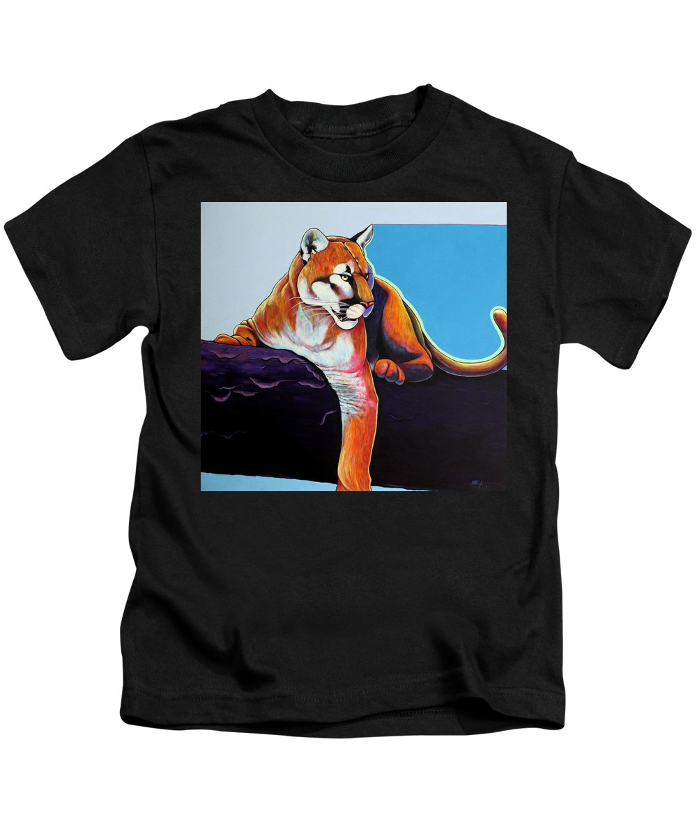 Wildlife Kids T-Shirt featuring the painting The Toll Collector by Joe Triano