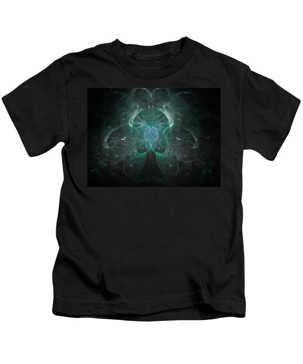 Fractal Kids T-Shirt featuring the painting The Tree Of Life by Bruce Nutting