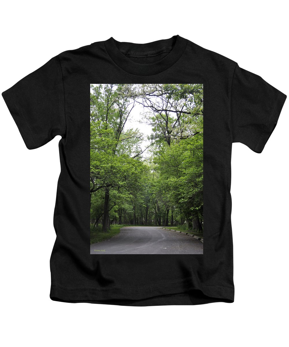 Trees Kids T-Shirt featuring the photograph The Trees Of Illinois by Verana Stark