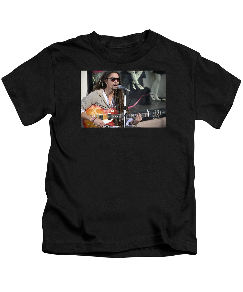 Fine Kids T-Shirt featuring the photograph The Troubadour - Javier Manik 4 by Teo SITCHET-KANDA