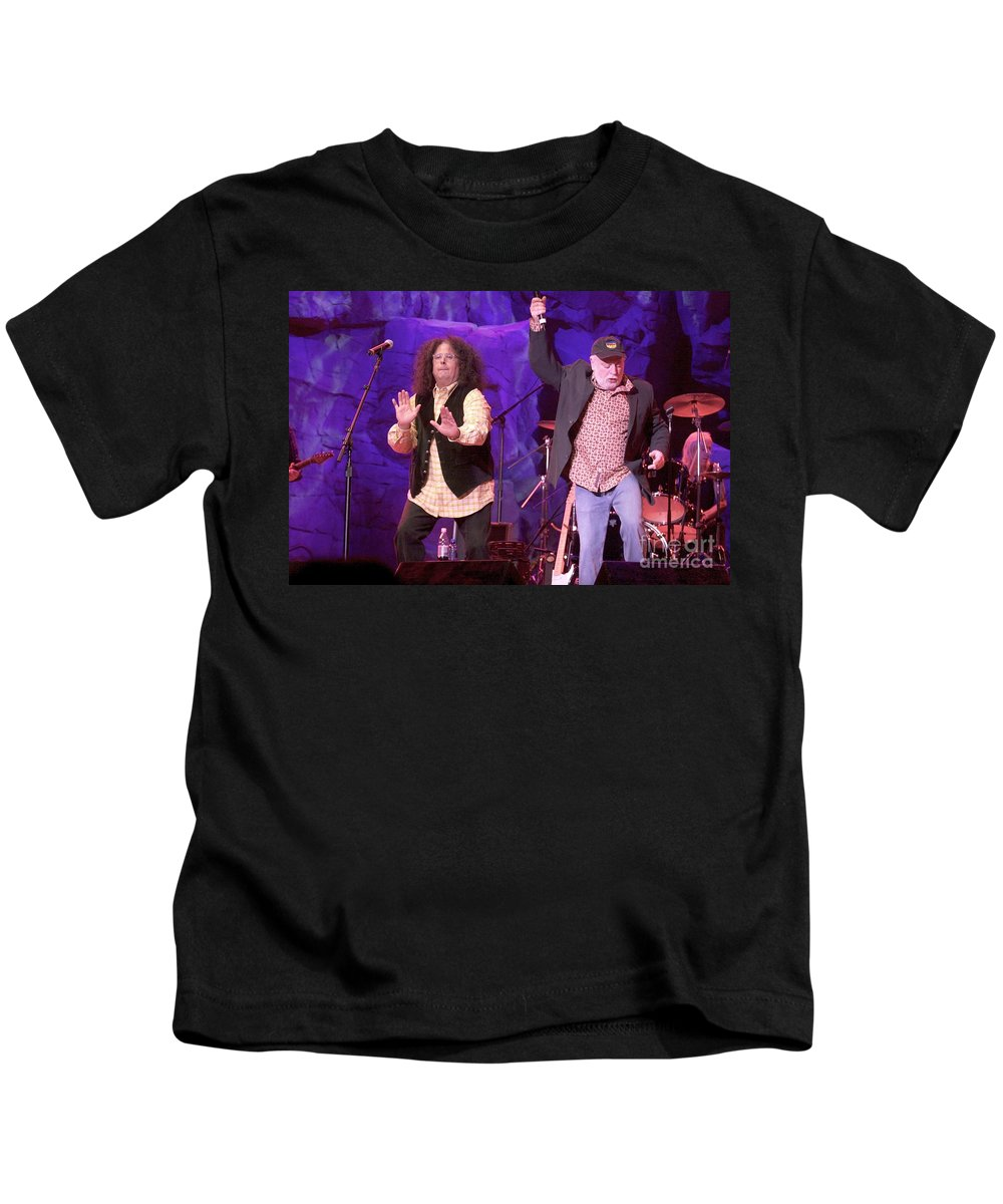 Performance Kids T-Shirt featuring the photograph The Turtles - Mark Volman And Howard Kaylan by Concert Photos