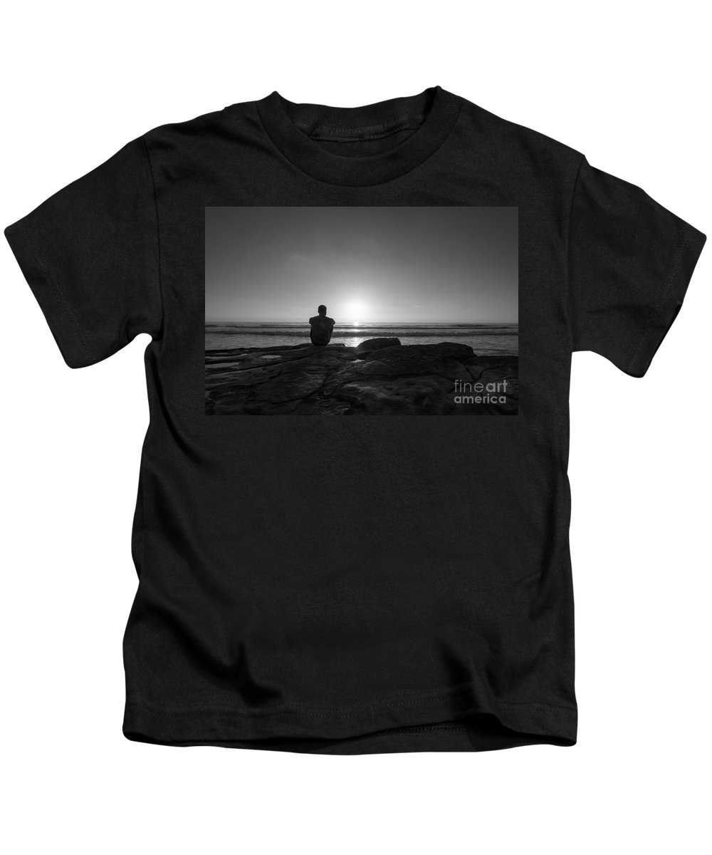 Michael Ver Sprill Kids T-Shirt featuring the photograph The View Bw by Michael Ver Sprill