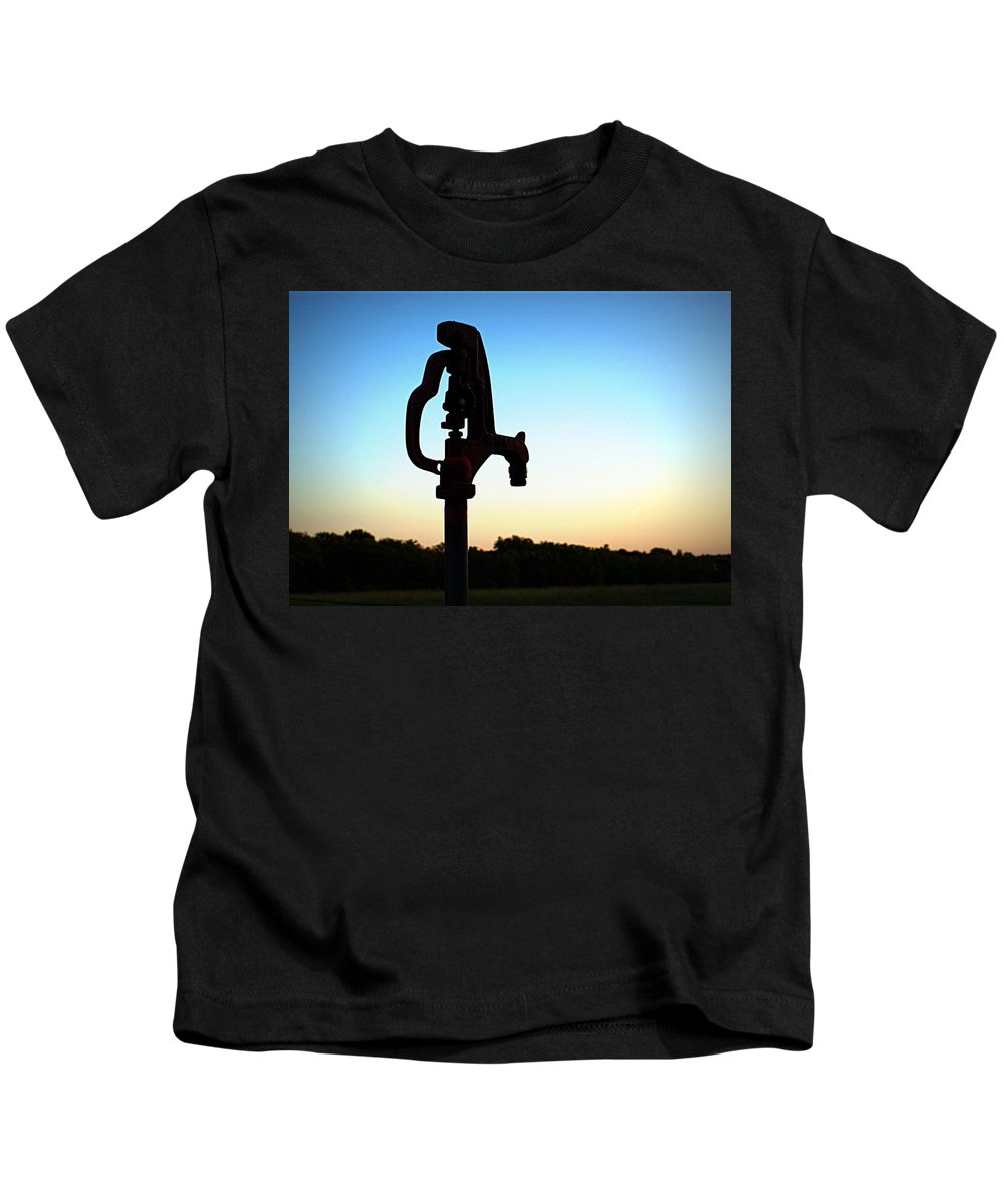 Water Kids T-Shirt featuring the photograph The Water Hydrant by Cricket Hackmann