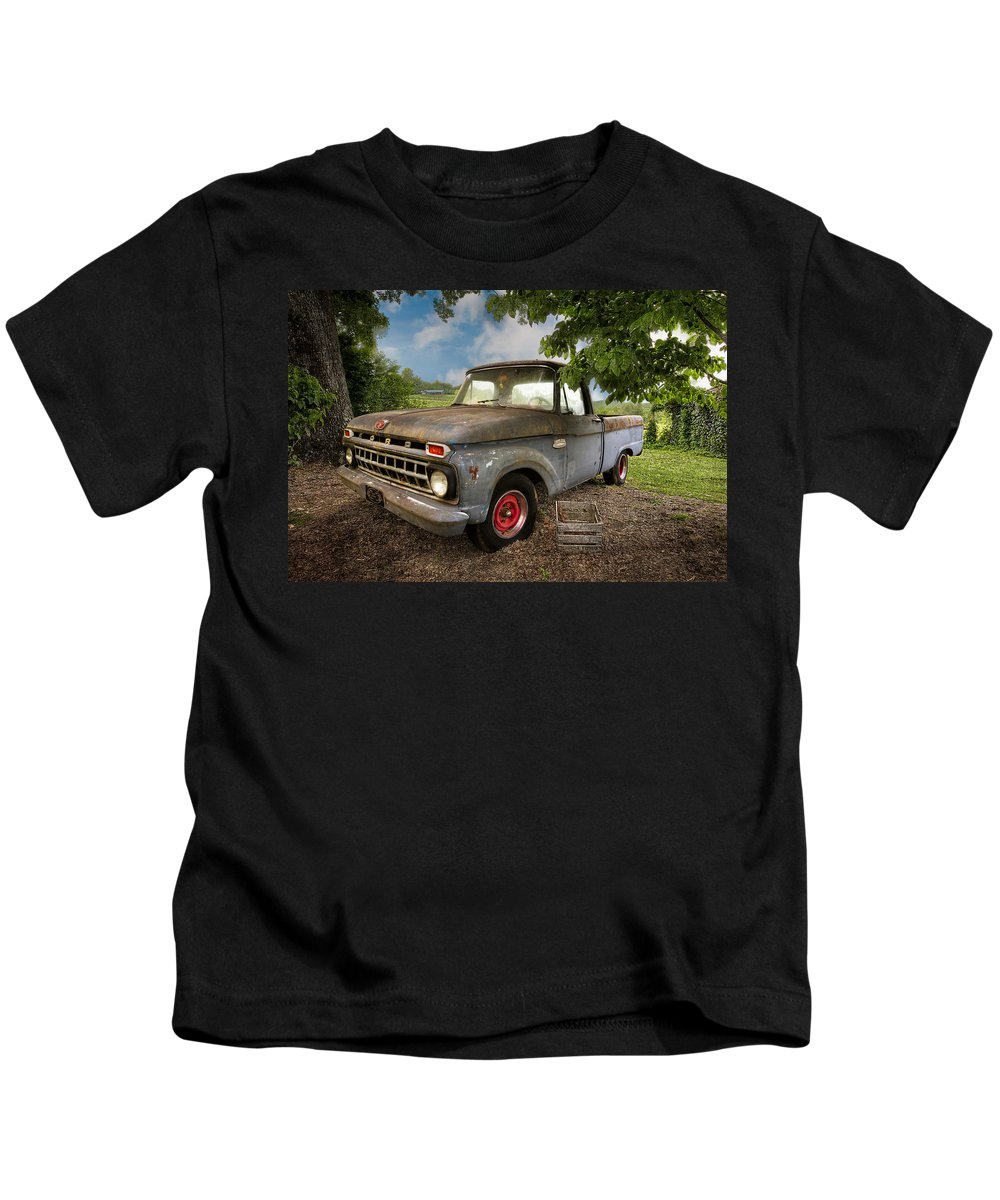 100 Kids T-Shirt featuring the photograph Those Were The Days by Debra and Dave Vanderlaan