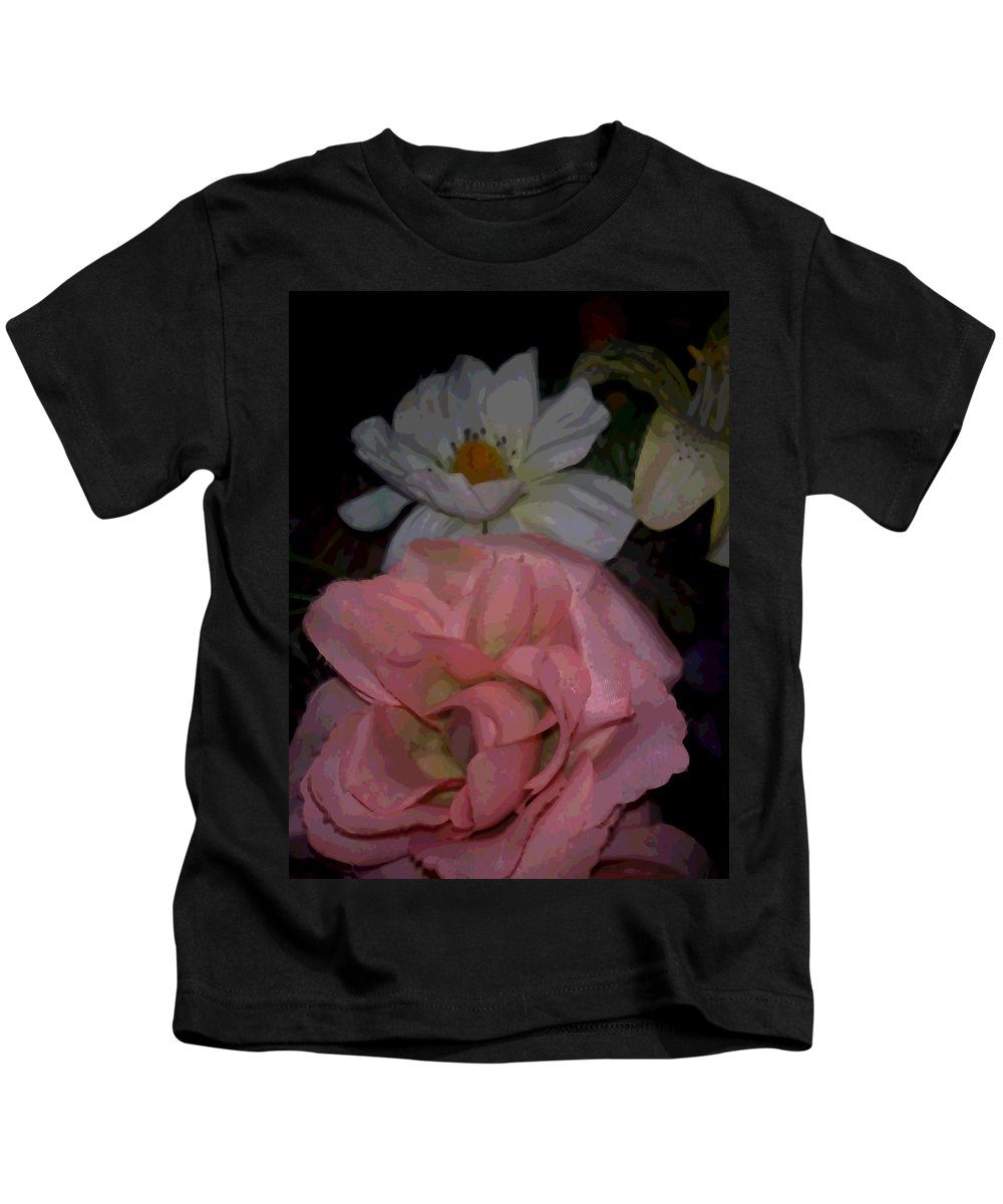 Flowers Kids T-Shirt featuring the mixed media Thoughts of Spring by Pharris Art