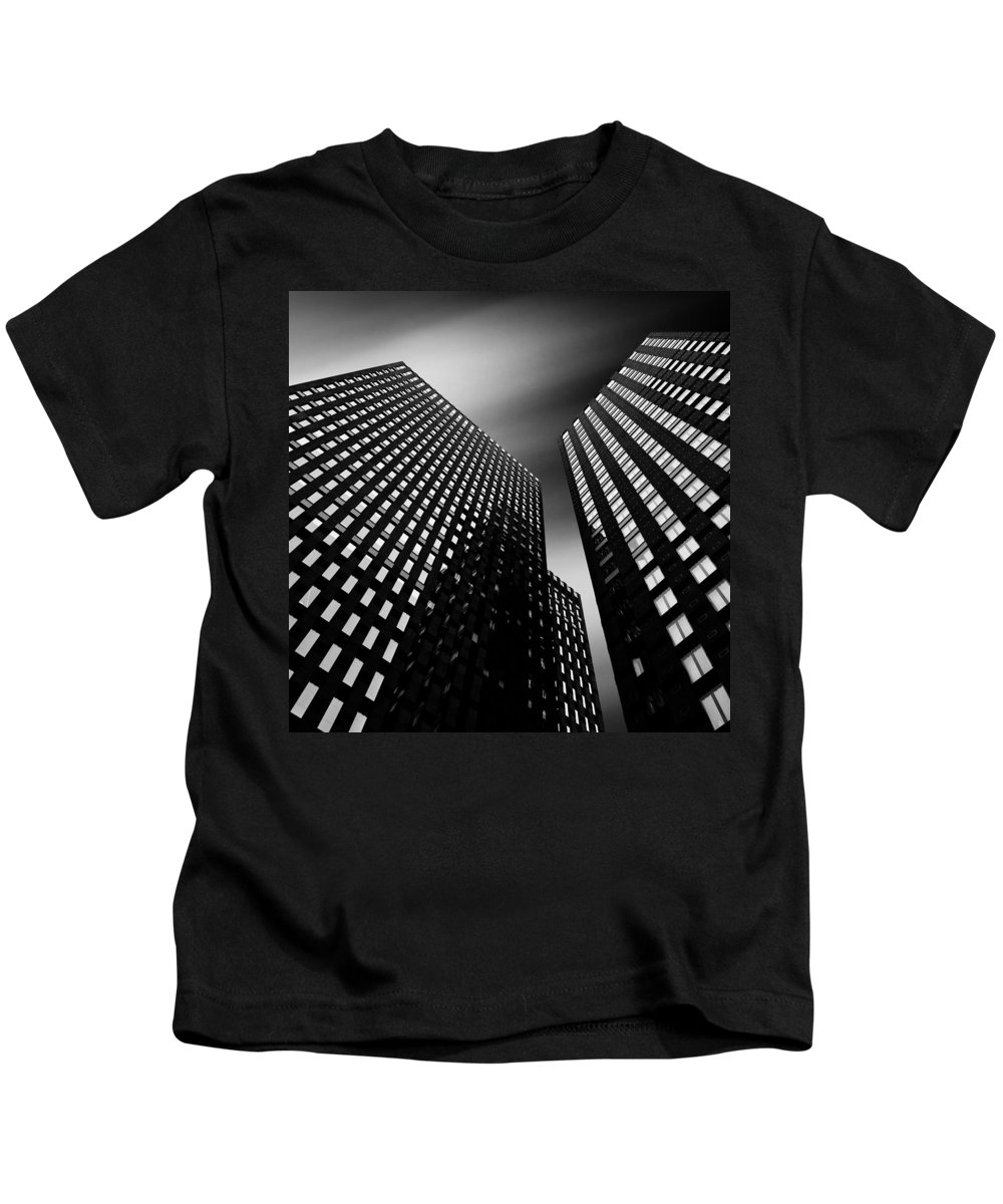 Architecture Kids T-Shirt featuring the photograph Three Towers by Dave Bowman