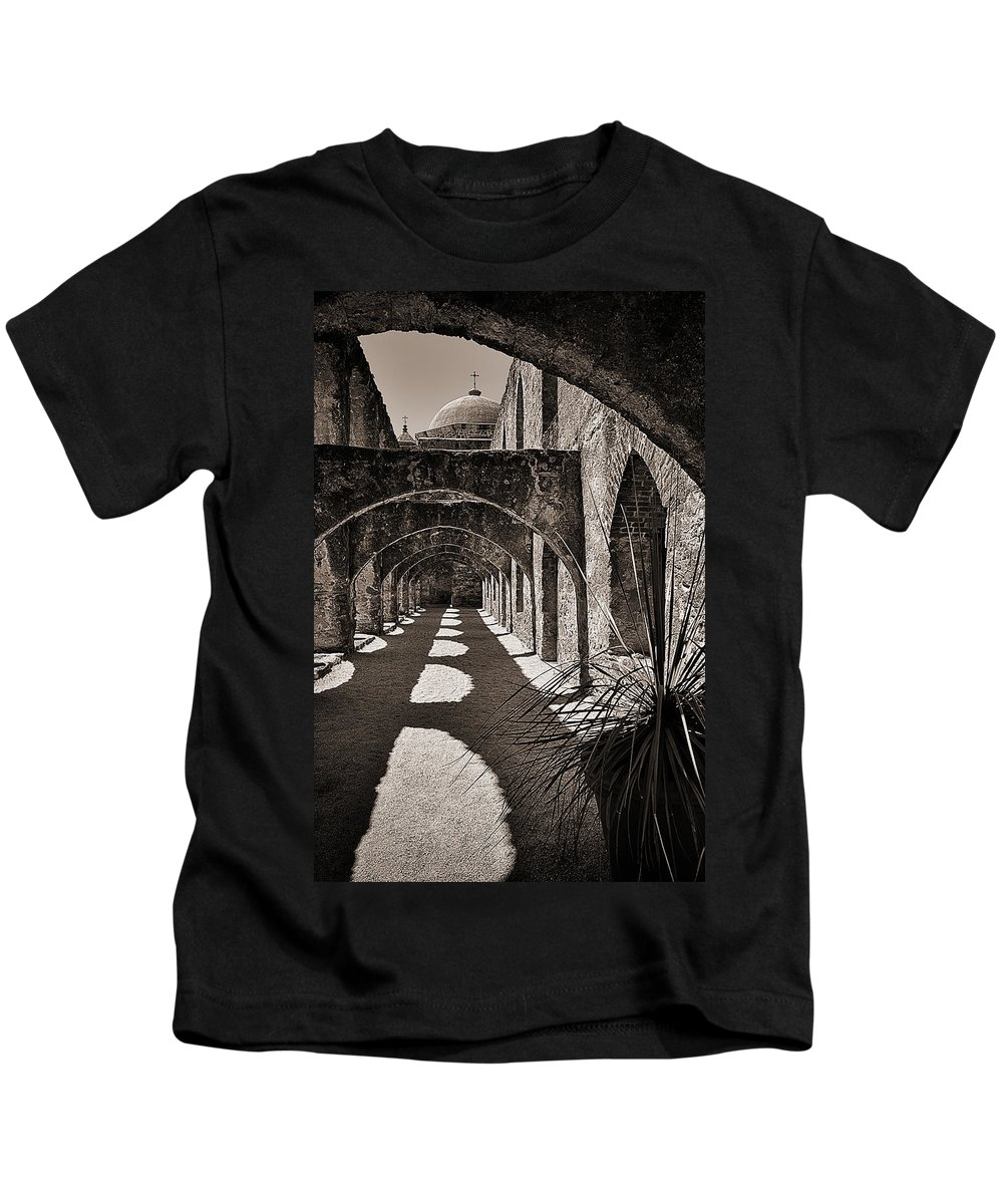 Arches Kids T-Shirt featuring the photograph Through The Arches by Priscilla Burgers