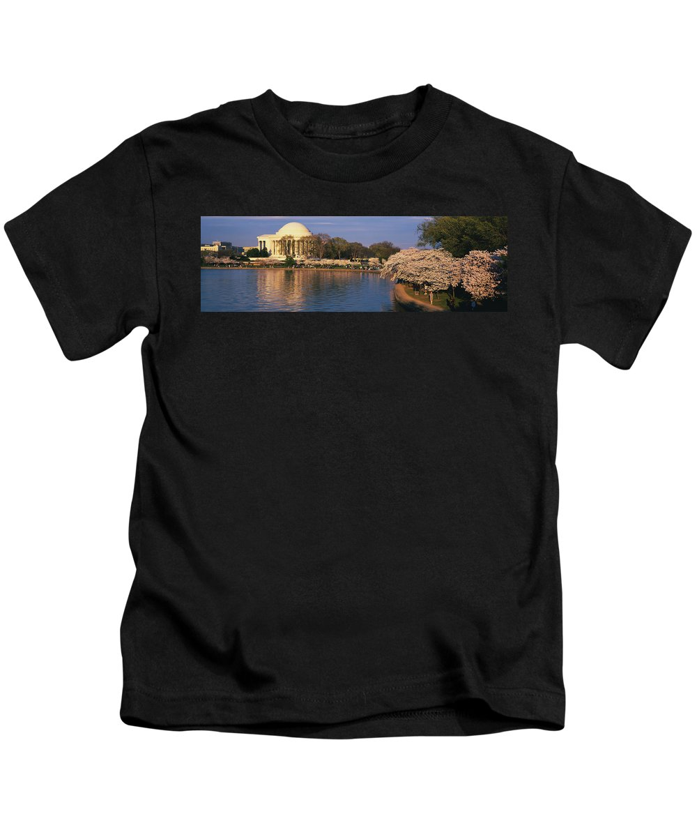 Photography Kids T-Shirt featuring the photograph Tidal Basin Washington Dc by Panoramic Images