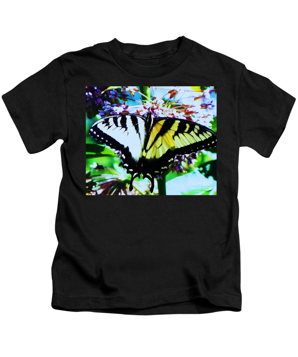 Butterfly Kids T-Shirt featuring the photograph Tiger Swallowtail Butterfly by Eric Schiabor