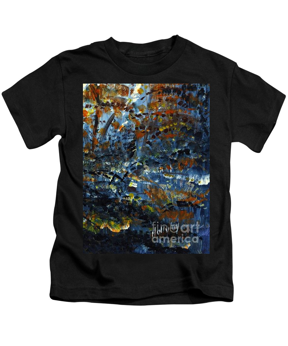 Autumn Kids T-Shirt featuring the painting Tim's Autumn Trees by Holly Carmichael
