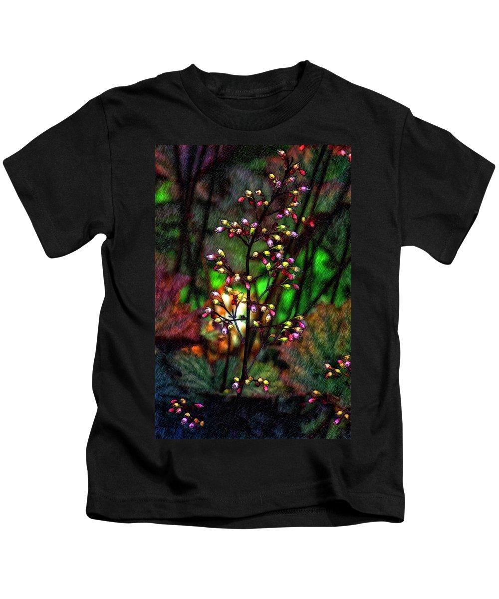 Flower Kids T-Shirt featuring the photograph Tiny Dancer Sketch by Steve Harrington